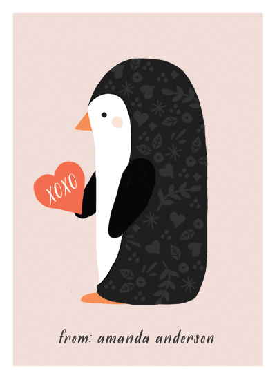 valentine's day - XOXO Penguin by August and Oak