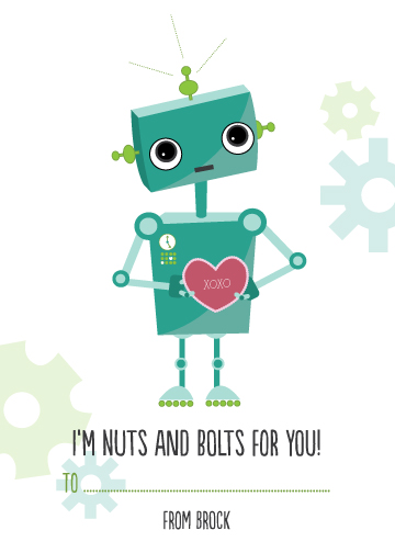 valentine's day - I'm Nuts and Bolts for You! by Mandy Lindeke