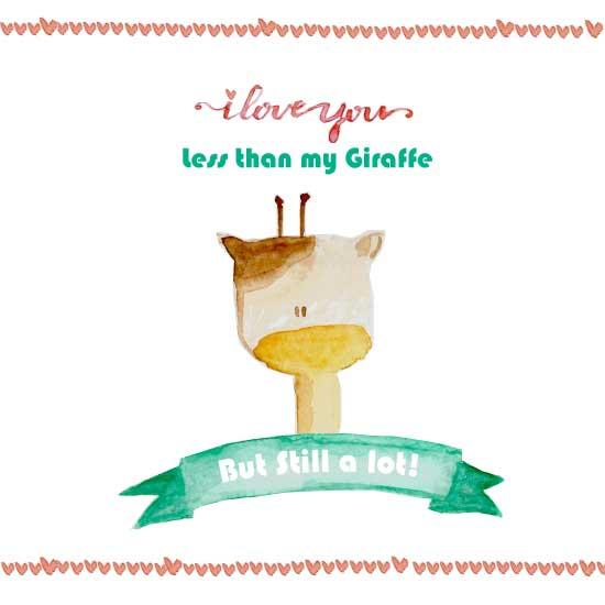 valentine's day - my giraffe & you by Marcela Tonello