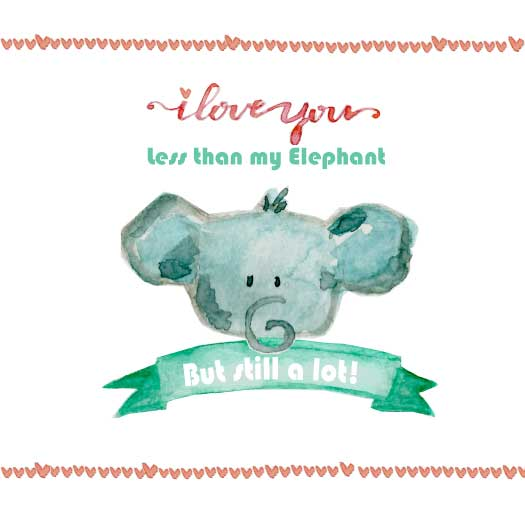 valentine's day - My Elephant & You by Marcela Tonello