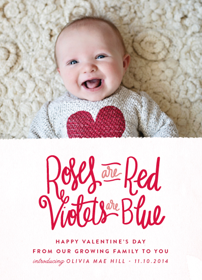 valentines day roses are red baby announcement by lacie cunningham