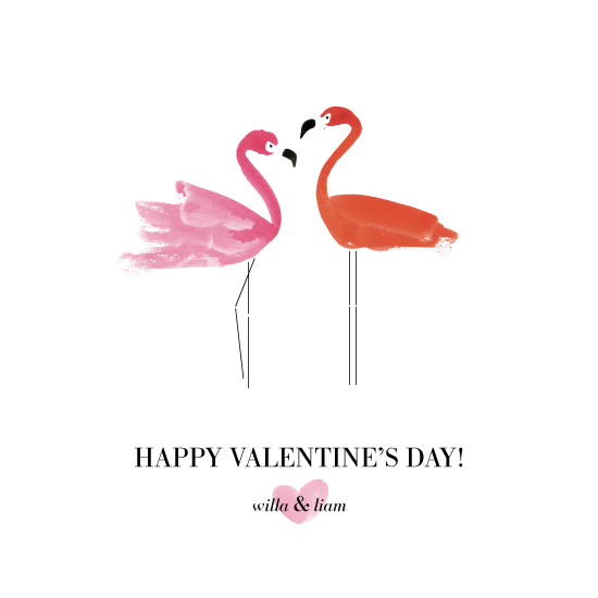 valentine's day - Flamingo Love by Simona Camp