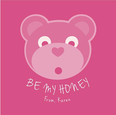 valentine's day - bear my honey by Karen Delaney