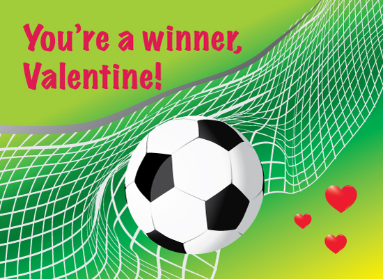 valentine's day - Hearts and Soccer by Cecilia Torres