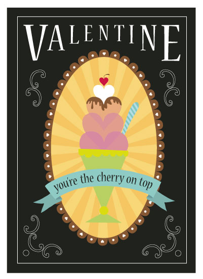 valentine's day - You're the Cherry on Top by Rose Design