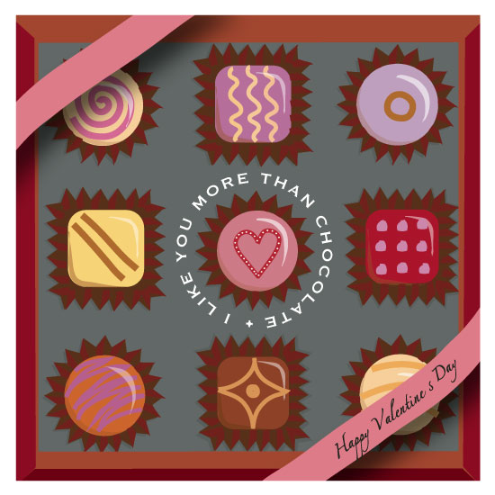 valentine's day - I Like You More Than Chocolate by Rose Design