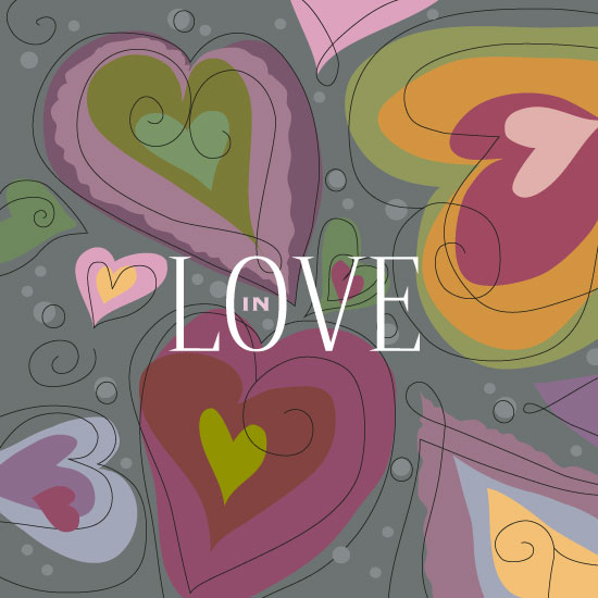 valentine's day - IN LOVE - art by Rose Design