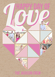valentine's day - Geometric Heart of Love by Sherei Co.