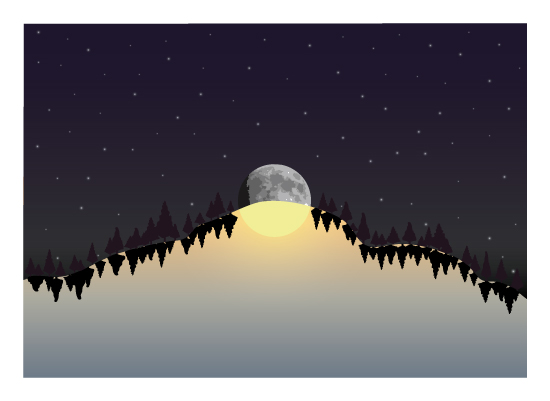 art prints - Hill of Day and Night by Brendan Lim