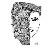 art prints - City Girl by Rebecca Bailey