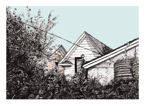 art prints - In the Backyard by Alexandra Betzler