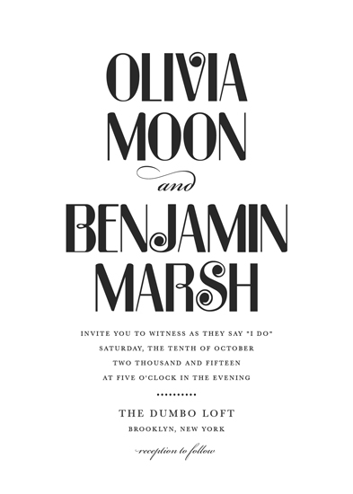 wedding invitations - Moonshine by Sarah Dickson