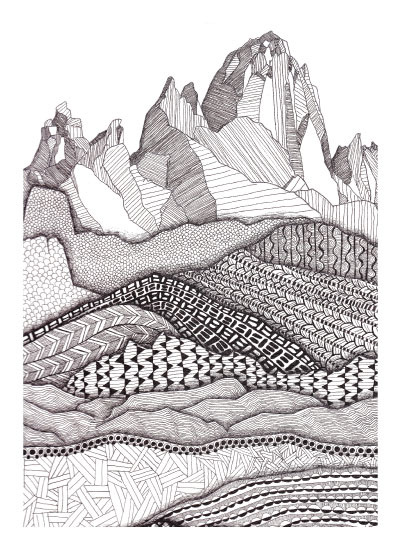 art prints - Patterns on Patagonia by Laura Maxwell