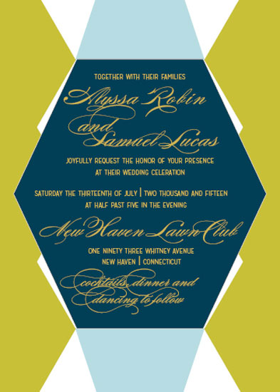 wedding invitations - Geometric Abstract Love by Barbara Caruso