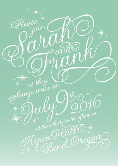 wedding invitations - Written in the Stars by Sarah Dickson