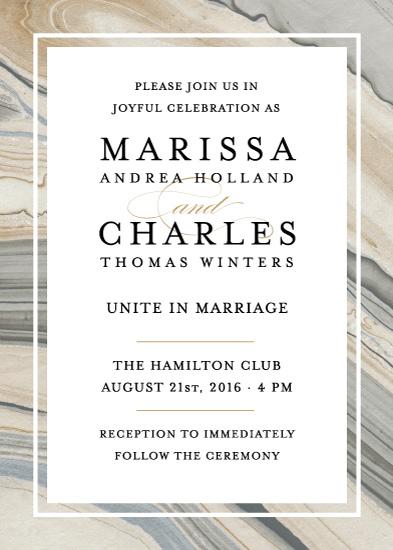 wedding invitations - Elegant Marble by Liz Conley