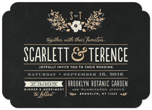 wedding invitations - jardin nocturne by Bonjour Paper