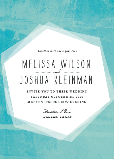 wedding invitations - hex wash by Rebecca Bowen