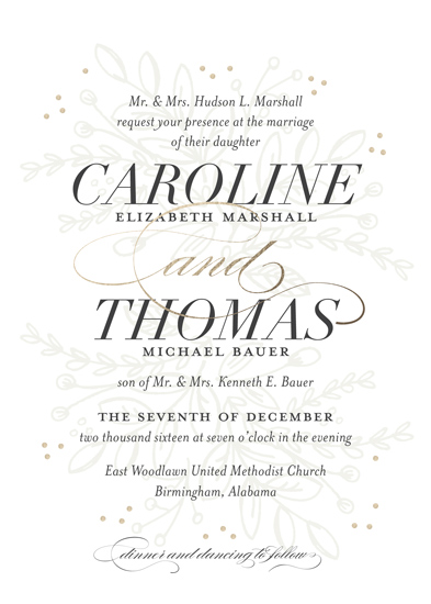wedding invitations - Graceful by Jessica Williams