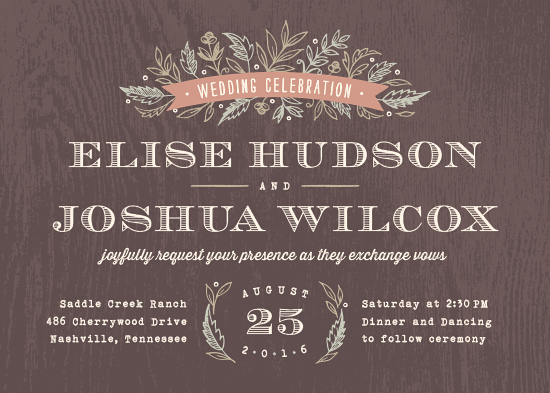 wedding invitations - Woodland Romance by Hooray Creative