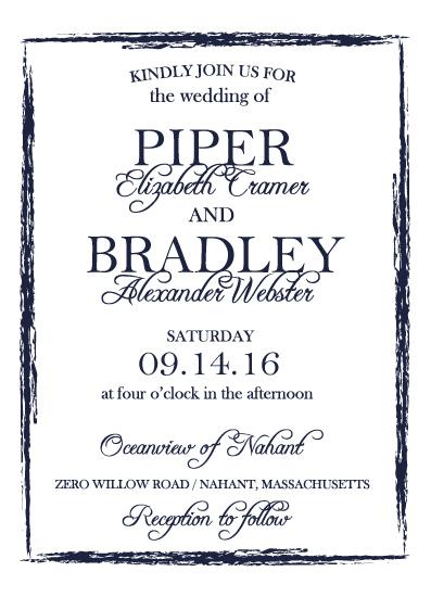 wedding invitations - Brushstroke Frame by Katelyn
