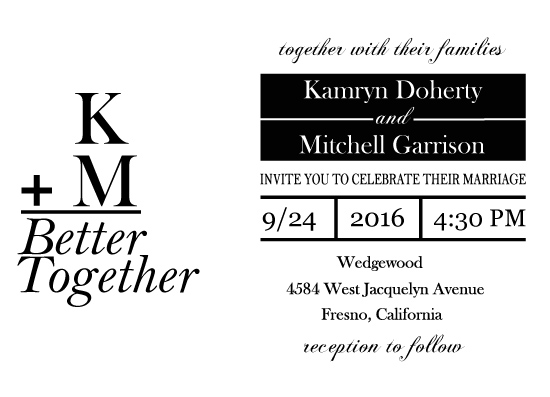 wedding invitations - Better Together by Katelyn
