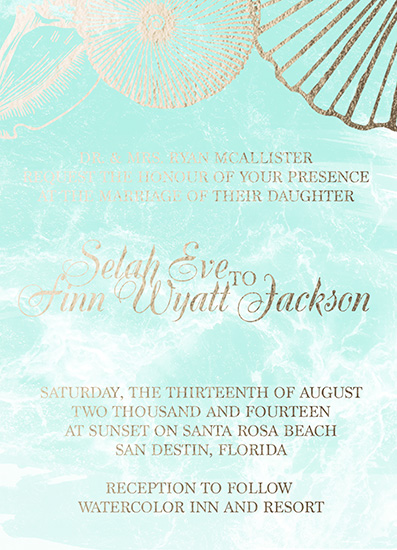 wedding invitations - Take me to the Golden Sea by Sherei Co.