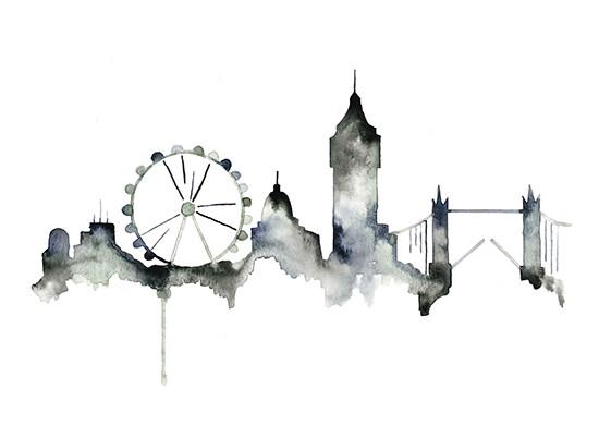 art prints - London Skyline by Kelsey McNatt
