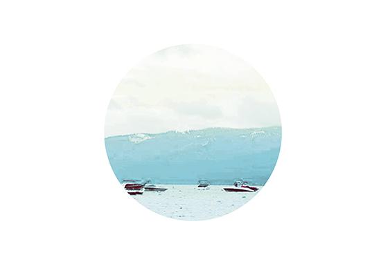 art prints - Aqua Lake Awake by Constance Castillo