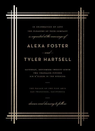 wedding invitations - Grand Affair by Three Kisses Studio