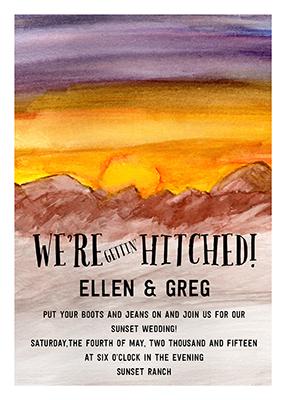 wedding invitations - Western Skies by Nicole French