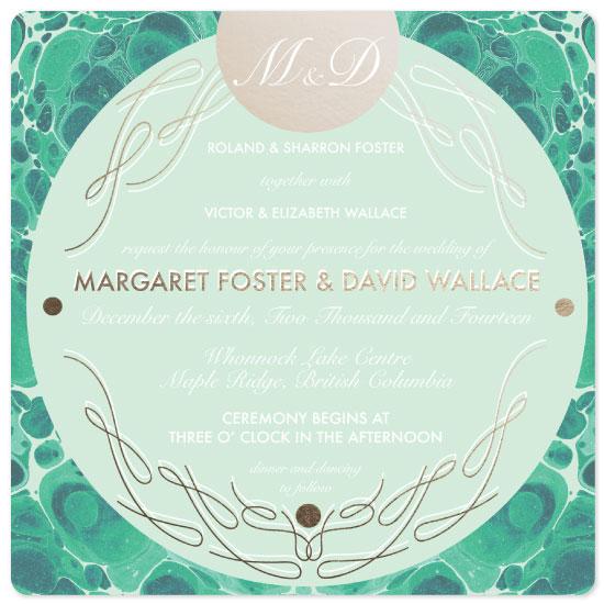 wedding invitations - Marbled Waves by Sidney Masuga