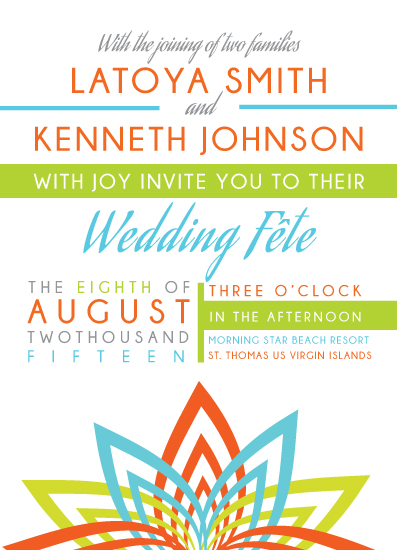 wedding invitations - Caribbean Fete by Lauren Varlack-Johnson