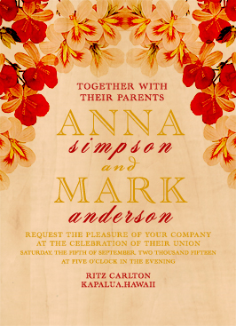 wedding invitations - Del Rey by WildHeart Paper