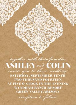 wedding invitations - Kraft by WildHeart Paper