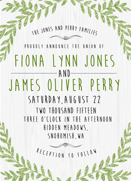 wedding invitations - Olive by WildHeart Paper
