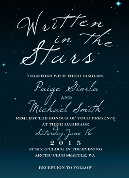 wedding invitations - Starry Night by WildHeart Paper