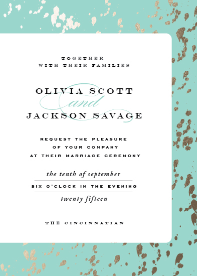 wedding invitations - Plunge by Carrie ONeal
