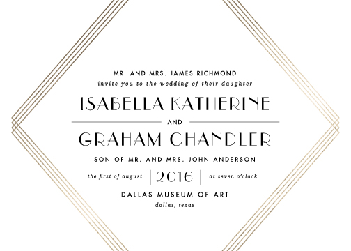 wedding invitations - Gilt by Lauren Chism