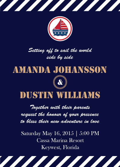 wedding invitations - Sail The World by CL