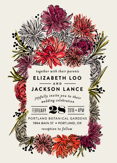 wedding invitations - Dahlia Bouquet by Alethea and Ruth