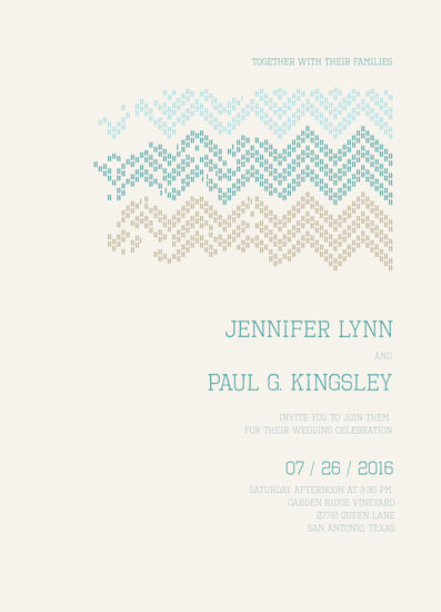 wedding invitations - Patriot Lines of Chevron by idu fitrano