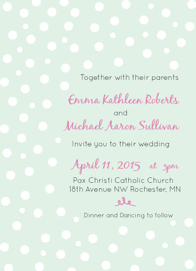 wedding invitations - Springtime Wedding Party by Joanna Green