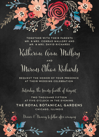 wedding invitations - Katherine & Marcus by Coco and Ellie Design