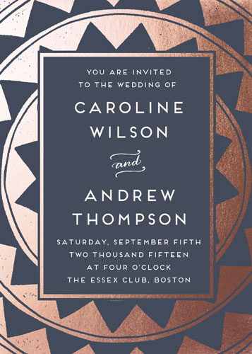 wedding invitations - Deco Chevron by Katharine Watson