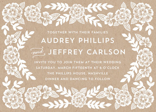 wedding invitations - Audrey Floral by Katharine Watson