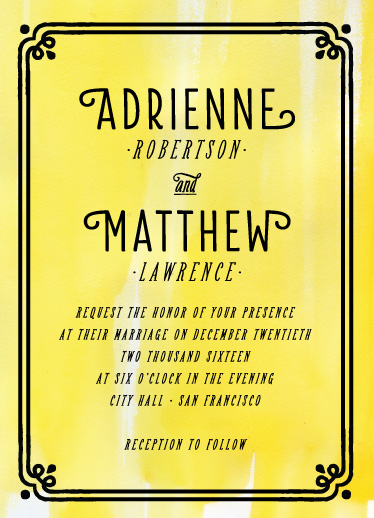 wedding invitations - artsy chic by curbsidetreasure