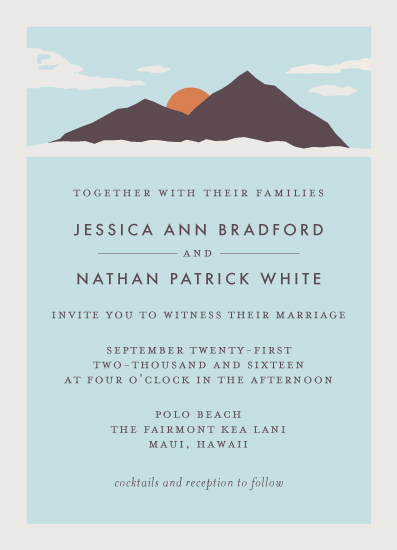 wedding invitations - Holiday Island by Kampai Designs