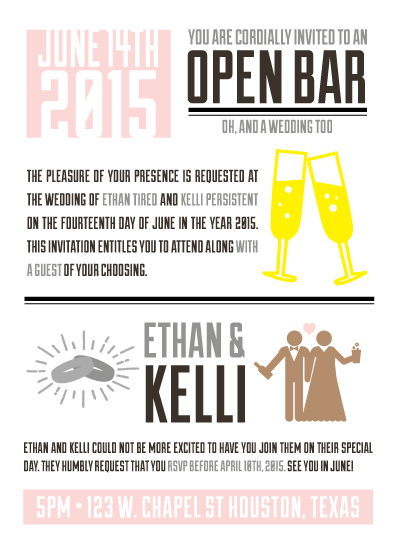 Wedding invitations open bar at minted wedding invitations open bar by rima jean stopboris Image collections