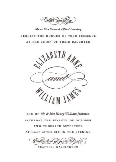 wedding invitations - Formal Seal by Kimberly Morgan